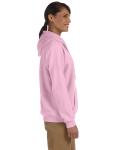 Light Pink Heavy Blend™ Ladies' 8 oz., 50/50 Full-Zip Hood as seen from the sleeveleft