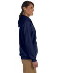 Navy Heavy Blend™ Ladies' 8 oz., 50/50 Full-Zip Hood as seen from the sleeveleft