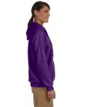 Purple Heavy Blend™ Ladies' 8 oz., 50/50 Full-Zip Hood as seen from the sleeveleft