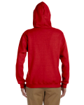 Red Heavy Blend™ Ladies' 8 oz., 50/50 Full-Zip Hood as seen from the back