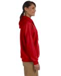 Red Heavy Blend™ Ladies' 8 oz., 50/50 Full-Zip Hood as seen from the sleeveleft