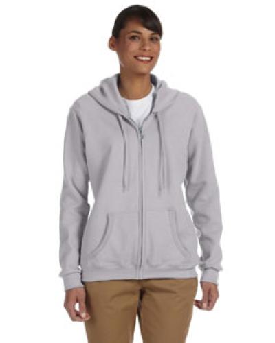 Sport Grey Heavy Blend™ Ladies' 8 oz., 50/50 Full-Zip Hood as seen from the front