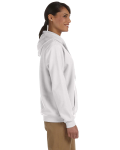 White Heavy Blend™ Ladies' 8 oz., 50/50 Full-Zip Hood as seen from the sleeveleft