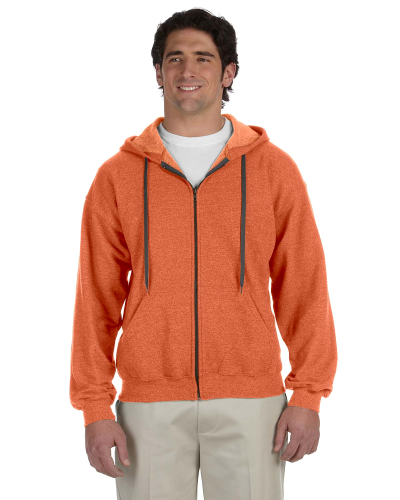 Sunset Heavy Blend™ 8 oz. Vintage Classic Full-Zip Hood as seen from the front