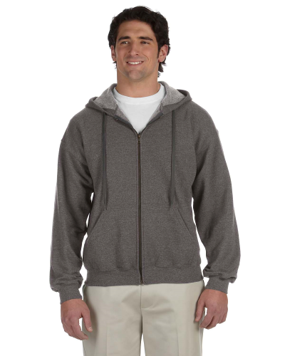 Tweed Heavy Blend™ 8 oz. Vintage Classic Full-Zip Hood as seen from the front