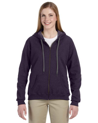 Blackberry Heavy Blend™ Ladies' 8 oz. Vintage Classic Missy Fit Full-Zip Hood as seen from the front