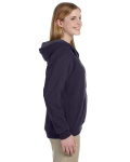 Blackberry Heavy Blend™ Ladies' 8 oz. Vintage Classic Missy Fit Full-Zip Hood as seen from the sleeveleft