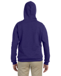Lilac Heavy Blend™ Ladies' 8 oz. Vintage Classic Missy Fit Full-Zip Hood as seen from the back