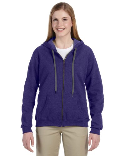 Lilac Heavy Blend™ Ladies' 8 oz. Vintage Classic Missy Fit Full-Zip Hood as seen from the front