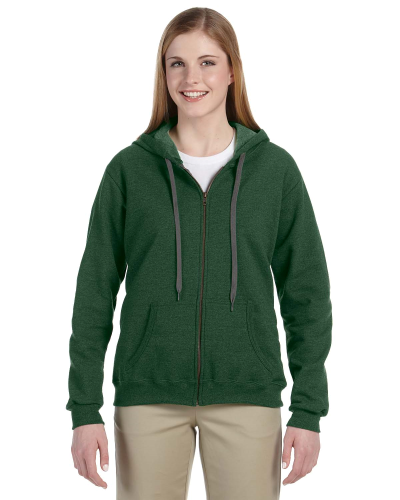 Meadow Heavy Blend™ Ladies' 8 oz. Vintage Classic Missy Fit Full-Zip Hood as seen from the front