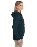 Midnight Heavy Blend™ Ladies' 8 oz. Vintage Classic Missy Fit Full-Zip Hood as seen from the sleeveleft