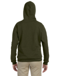 Moss Heavy Blend™ Ladies' 8 oz. Vintage Classic Missy Fit Full-Zip Hood as seen from the back