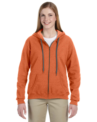 Sunset Heavy Blend™ Ladies' 8 oz. Vintage Classic Missy Fit Full-Zip Hood as seen from the front