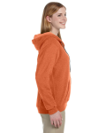 Sunset Heavy Blend™ Ladies' 8 oz. Vintage Classic Missy Fit Full-Zip Hood as seen from the sleeveleft