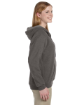 Tweed Heavy Blend™ Ladies' 8 oz. Vintage Classic Missy Fit Full-Zip Hood as seen from the sleeveleft