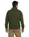 Moss Heavy Blend™ 8 oz. Vintage Classic Quarter-Zip Cadet Collar Sweatshirt as seen from the back