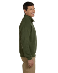 Moss Heavy Blend™ 8 oz. Vintage Classic Quarter-Zip Cadet Collar Sweatshirt as seen from the sleeveleft