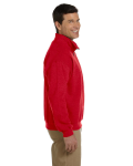 Red Heavy Blend™ 8 oz. Vintage Classic Quarter-Zip Cadet Collar Sweatshirt as seen from the sleeveleft