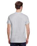 Ash Grey Premium Ultra Cotton T as seen from the back