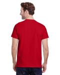 Cherry Red Premium Ultra Cotton T as seen from the back