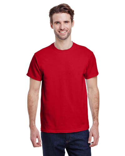 Cherry Red Premium Ultra Cotton T as seen from the front