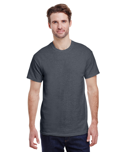 Dark Heather Premium Ultra Cotton T as seen from the front