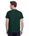 Forest Green Premium Ultra Cotton T as seen from the back
