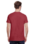 Heather Cardinal Premium Ultra Cotton T as seen from the back