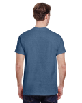 Heather Indigo Premium Ultra Cotton T as seen from the back