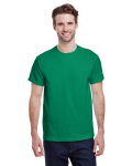 Kelly Green Premium Ultra Cotton T as seen from the front
