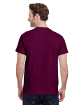 Maroon Premium Ultra Cotton T as seen from the back