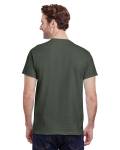 Military Green Premium Ultra Cotton T as seen from the back