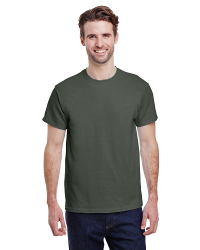 Military Green Premium Ultra Cotton T as seen from the front