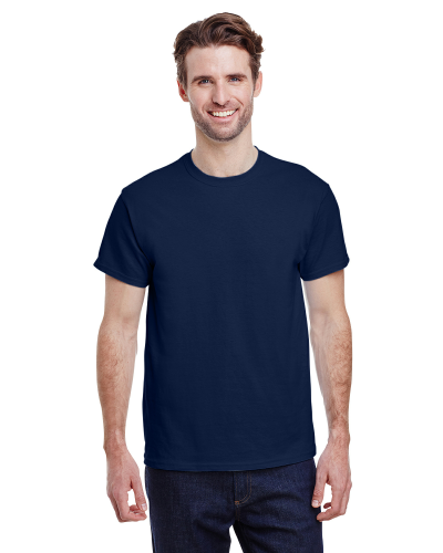 Navy Premium Ultra Cotton T as seen from the front
