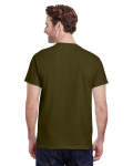 Olive Premium Ultra Cotton T as seen from the back