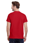 Red Premium Ultra Cotton T as seen from the back