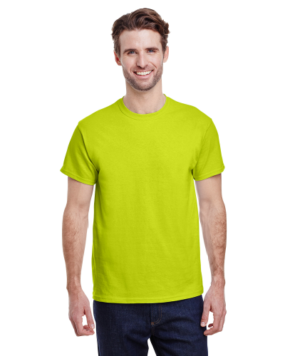 Safety Green Premium Ultra Cotton T as seen from the front
