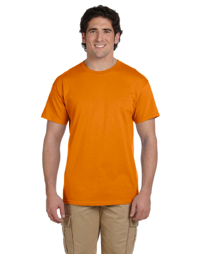 Safety Orange Premium Ultra Cotton T as seen from the front