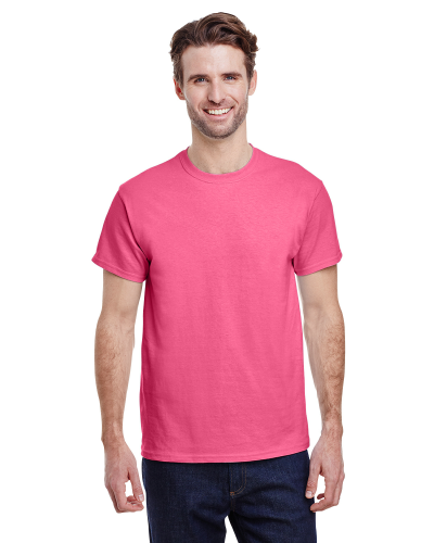 Safety Pink Premium Ultra Cotton T as seen from the front