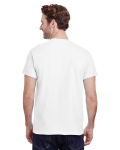 White Premium Ultra Cotton T as seen from the back