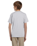 Ash Grey Youth Premium Ultra Cotton T as seen from the back