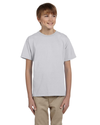Ash Grey Youth Premium Ultra Cotton T as seen from the front