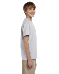Ash Grey Youth Premium Ultra Cotton T as seen from the sleeveleft