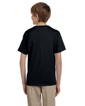 Black Youth Premium Ultra Cotton T as seen from the back