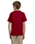 Cardinal Red Youth Premium Ultra Cotton T as seen from the back