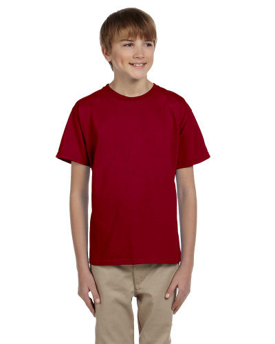 Cardinal Red Youth Premium Ultra Cotton T as seen from the front