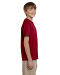 Cardinal Red Youth Premium Ultra Cotton T as seen from the sleeveleft