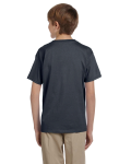 Charcoal Youth Premium Ultra Cotton T as seen from the back