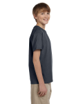 Charcoal Youth Premium Ultra Cotton T as seen from the sleeveleft