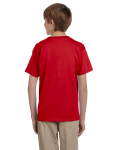 Cherry Red Youth Premium Ultra Cotton T as seen from the back